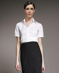Theory | Black Pencil Skirt | Lyst