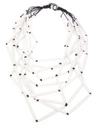 Antonella Filippini - White Beaded Layered Necklace - Lyst