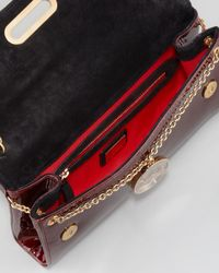 Christian Louboutin Riviera Patent Clutch Bag Red