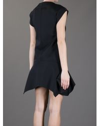 Givenchy Black Ruffle Hem Dress