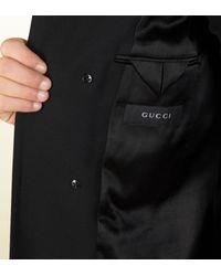 Gucci | Black Wool Equestrian Coat | Lyst
