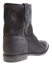 Isabel Marant Black Cluster Concealed Wedge Boot
