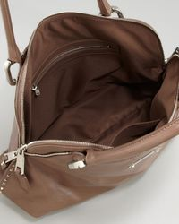 Marc Jacobs Rio Shiny Leather Satchel Bag Brown