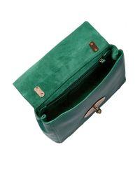 Mulberry Green Micrograin Calf Lily Bag