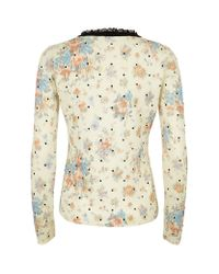 RED Valentino - Multicolor Polka Dot Sweater - Lyst