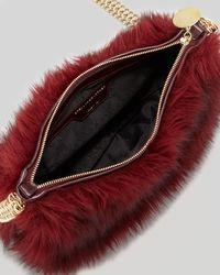 Stella McCartney Multicolor Grizzly Fauxfur Crossbody Bag Garnet