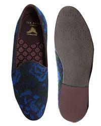 Ted Baker Blue Trebble Dress Slippers for men