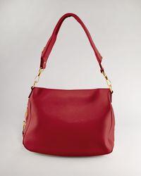 Tom Ford Red Jennifer Large Leather Shoulder Bag
