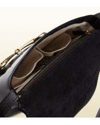 Gucci Black Bright Bit Patent Leather Shoulder Bag