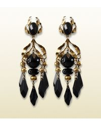Gucci | Earrings with Black Pendants | Lyst