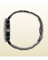 Gucci Gchrono Collection Watch with Black Diamonds for men
