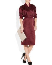 Jil Sander - Red Melodia Silk Sateen Dress - Lyst
