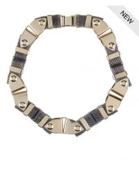 AllSaints | Metallic Anouk Mesh Necklace | Lyst