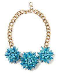 Banana Republic | Blue Elizabeth Cole Golden Glow Floral Necklace | Lyst