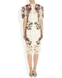 Dolce & Gabbana | Multicolor Tapestry and Lace Dress | Lyst