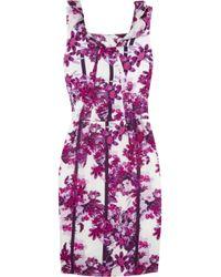 Erdem | Black Zhanna Floralprint Silk Dress | Lyst