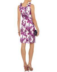 Erdem - Black Zhanna Floralprint Silk Dress - Lyst