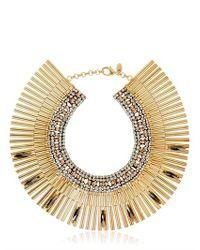 Iosselliani - Metallic Tribal Deco Necklace - Lyst