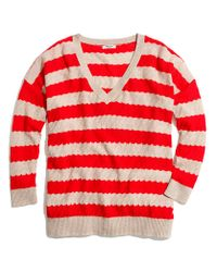 Madewell Red Striped Lakeview Sweater