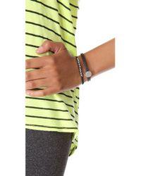 Marc By Marc Jacobs - Black Skinny Engraved Turnlock Leather Bracelet - Lyst