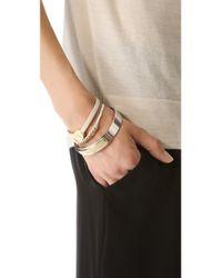 Marc By Marc Jacobs - Metallic Skinny Engraved Turnlock Leather Bracelet - Lyst