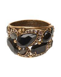 Oscar de la Renta - Black Multi Stone Large Cuff - Lyst