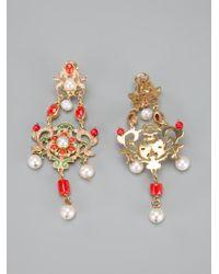 Percossi Papi Metallic Chandelier Earrings