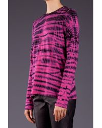 Proenza Schouler Pink Tie Dye Long Sleeve Tee