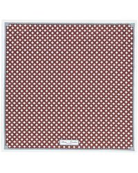 Reiss Purple Abyss Linked Diamond Print Pocket Square for men