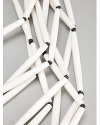 Antonella Filippini - White Beaded Layered Necklace - Lyst