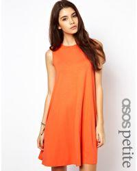 ASOS Orange Sleeveless Swing Dress
