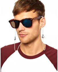 ASOS | Brown Sunglasses Chain with Anchor for Men | Lyst