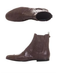 Balenciaga Brown Arena Leather Chelsea Boots
