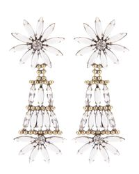DANNIJO | White Lovisa Earrings | Lyst