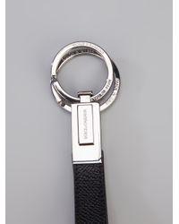 Dolce & Gabbana Metallic Logo Keyring for men