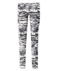 Étoile Isabel Marant | Black Tiger Print Mid Rise Skinny Corduroy Jeans | Lyst