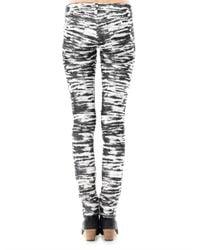 Étoile Isabel Marant - Black Tiger Print Mid Rise Skinny Corduroy Jeans - Lyst