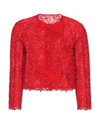 Giambattista Valli Red Lace Jacket