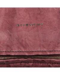 Givenchy Red Pandora Mini Washed Leather Satchel