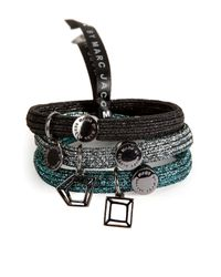 Marc By Marc Jacobs | Black Gem Slices Hair Tie Cluster in Hematite | Lyst
