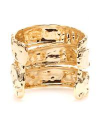 Marc By Marc Jacobs Metallic Textured Cuff Bracelet