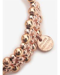 Philippe Audibert - Metallic Luis Four-row Beaded Elasticated Bracelet - Lyst