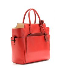 Reed Krakoff Red Atlantique Leather Tote