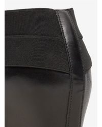 Stuart Weitzman Black 'behappy' Elasticated Leather Wedge Booties