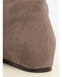 Stuart Weitzman Gray 'elf' Concealed Wedge Boots