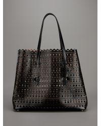 Alaïa Black Perforated Leather Tote