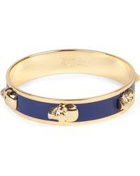 Alexander McQueen - Blue Large Enamel 3d Skull Bracelet - Lyst
