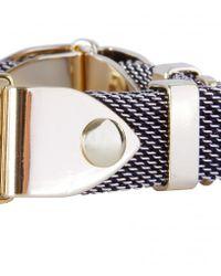 AllSaints | Metallic Anouk Mesh Bracelet | Lyst