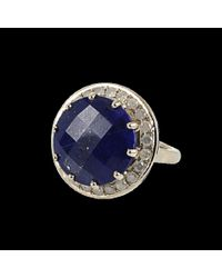 Andrea Fohrman - Blue Round Lapis and Ice Diamond Ring - Lyst