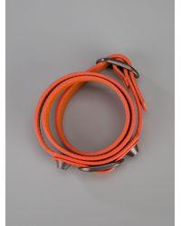 Balenciaga Orange Arena Classic Bracelet